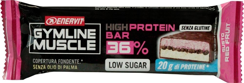 ENERVIT PROTEIN BAR 36%, 55g červené ovoce