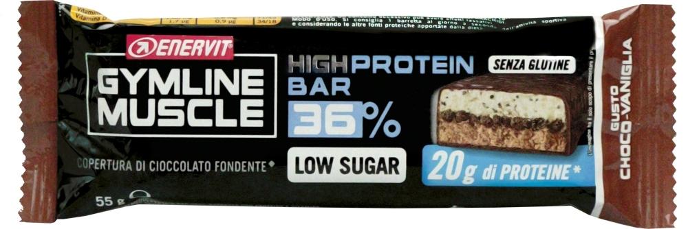 ENERVIT PROTEIN BAR 36%, 55g čokoláda + vanilka