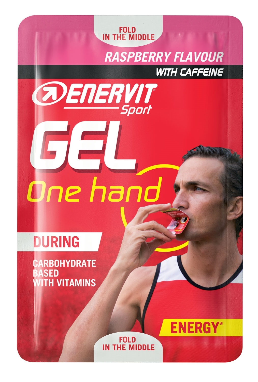 ENERVIT SPORT GEL One hand +kofein, 12,5ml, malina