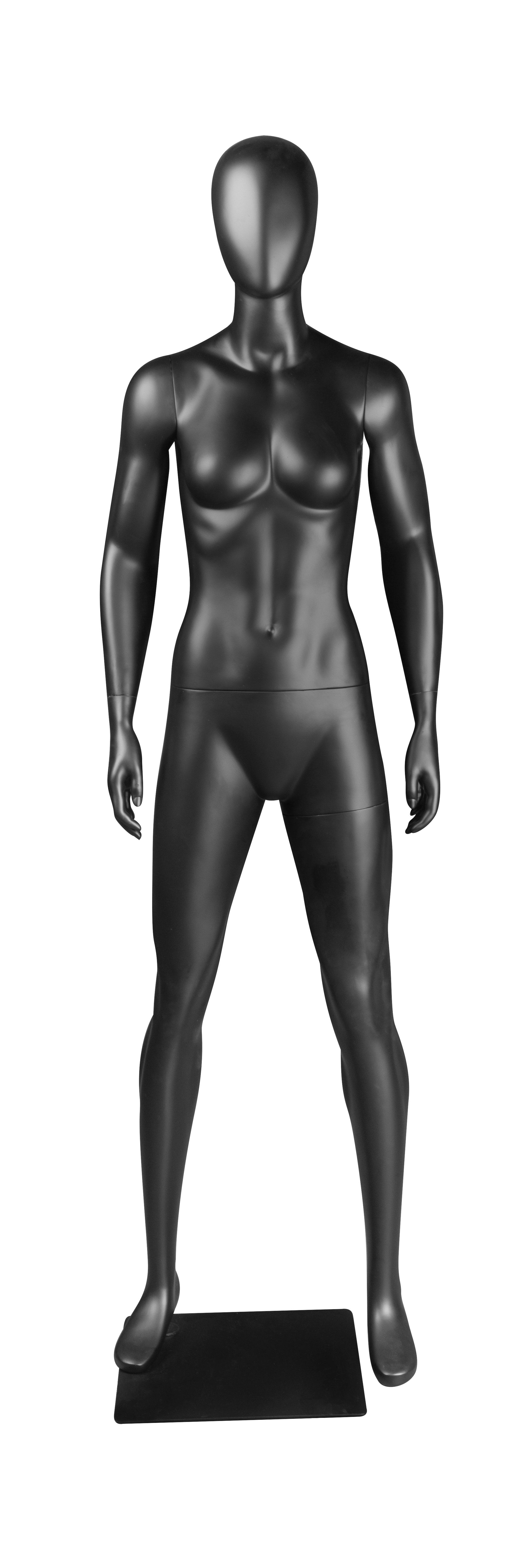 figurína dámská, vzpřímený postoj, černá matná