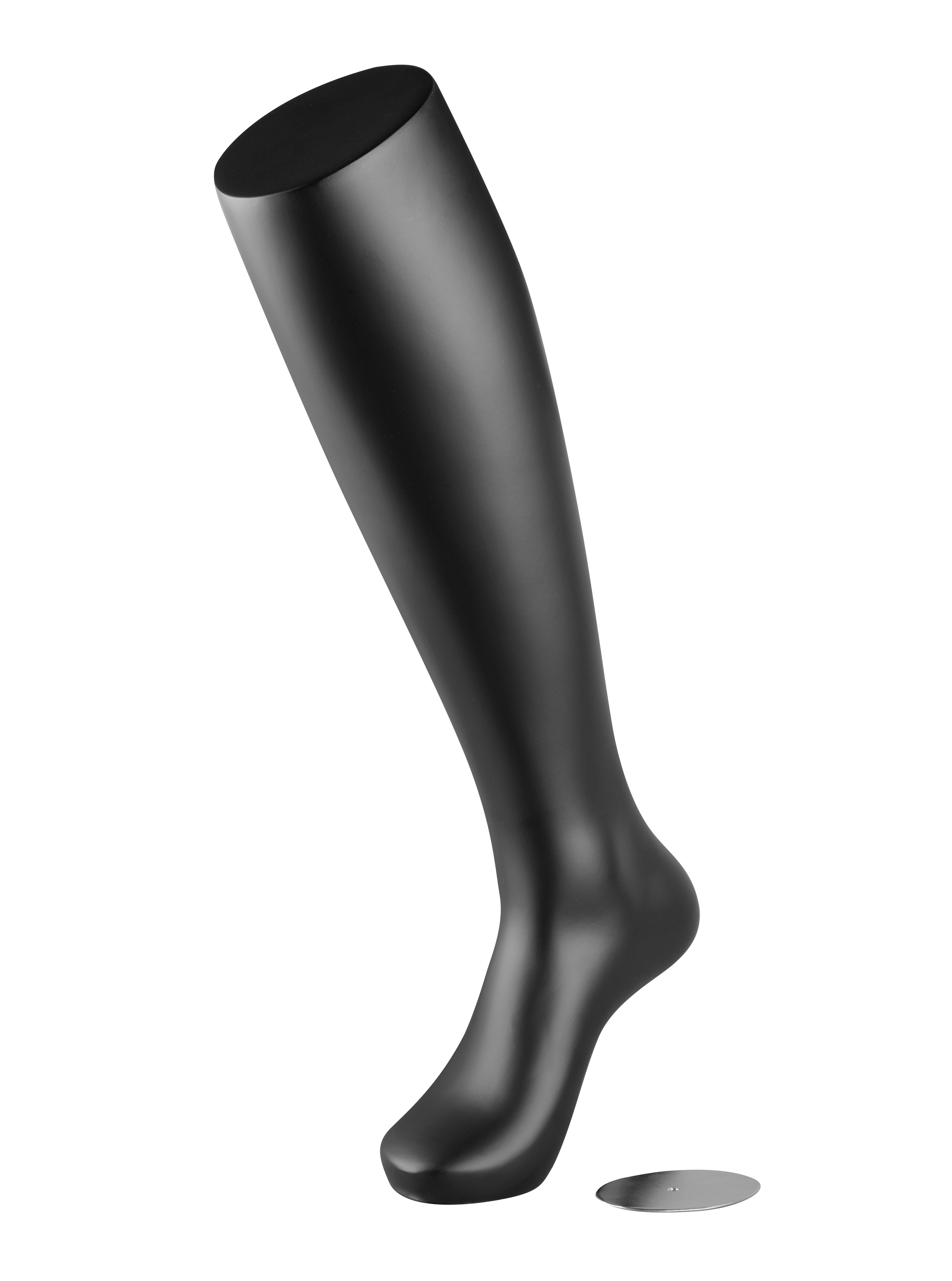 figurína - noha 58 cm, černá matná