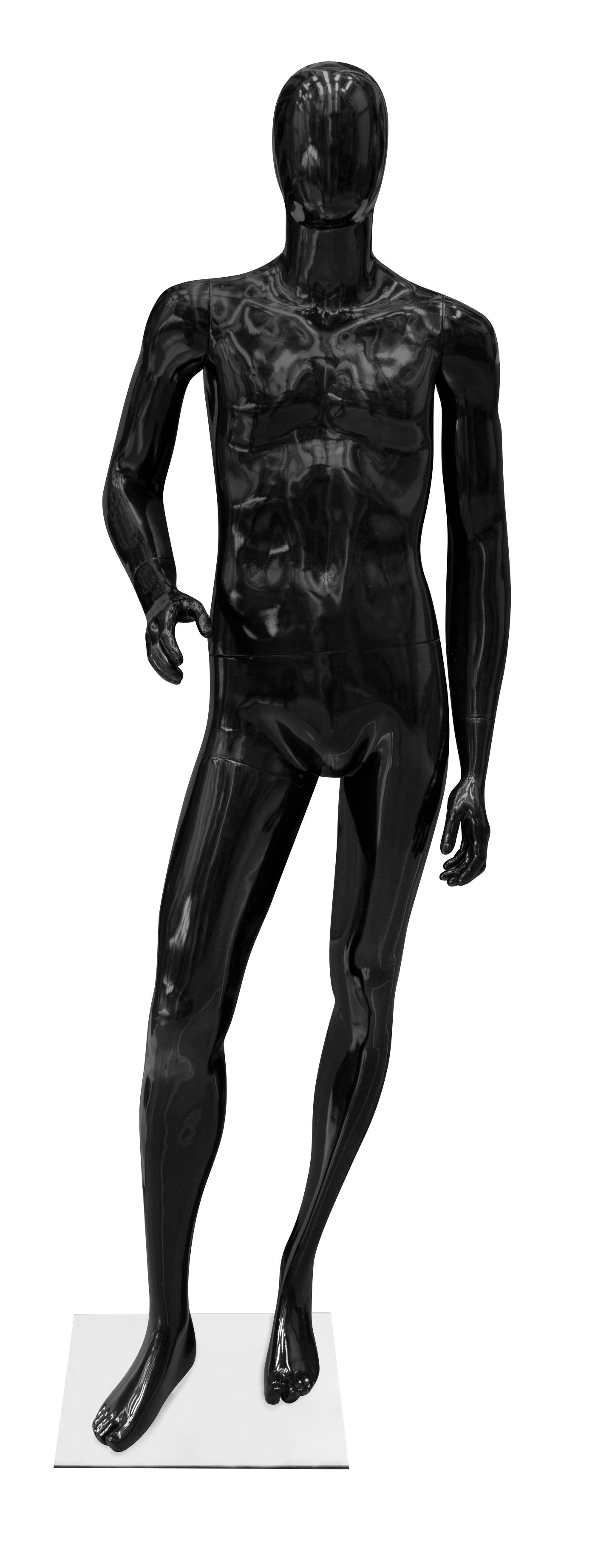 figurína pánská MAN2 (ohnutá ruka) černá