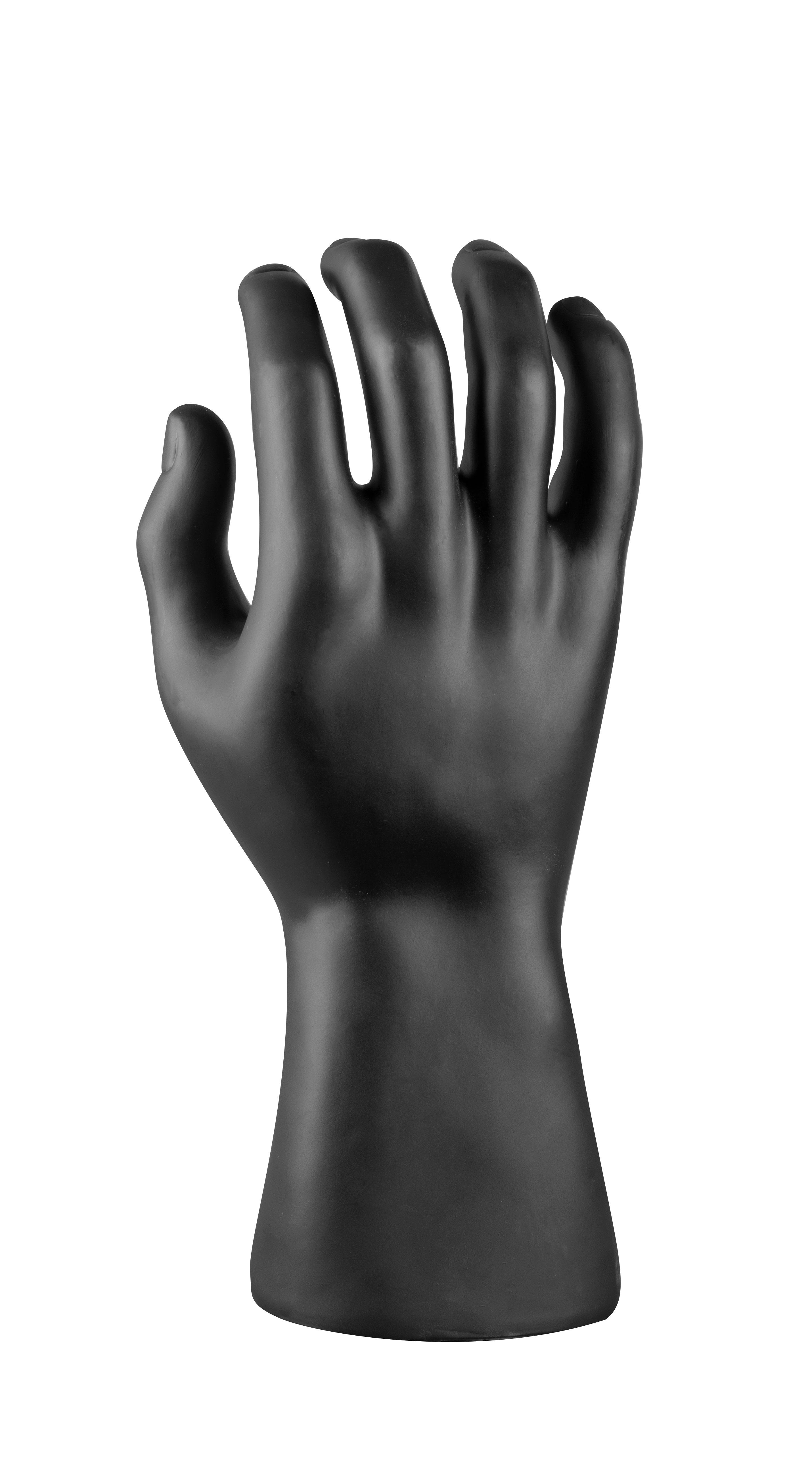 figurína - ruka, černá matná