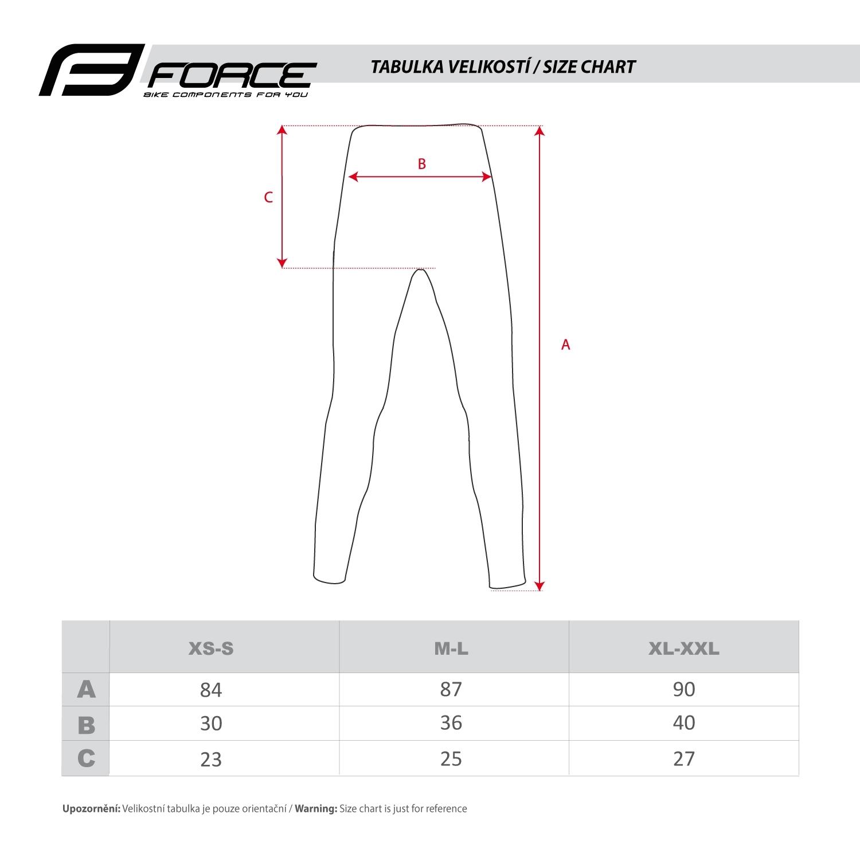 funkční kalhoty FORCE FROST, černé
