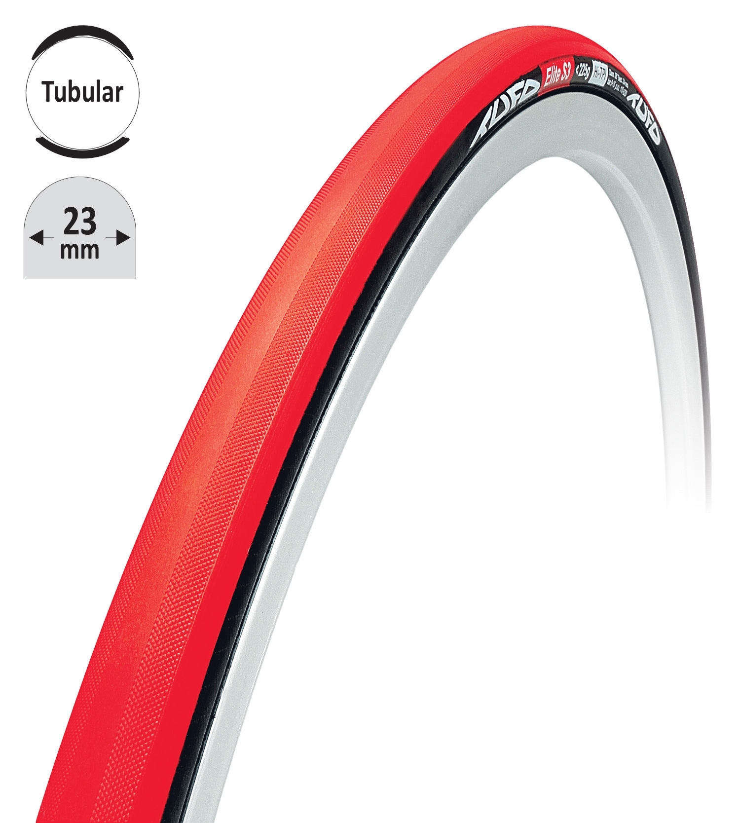 """galuska TUFO ELITE S3 červeno-černá 28""""/23mm"""