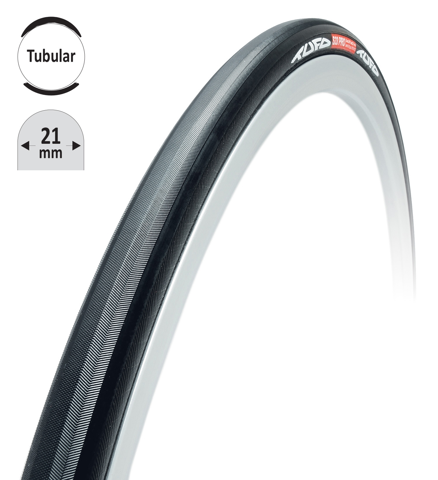 """galuska TUFO S33 PRO černo-černá 28""""/21mm"""