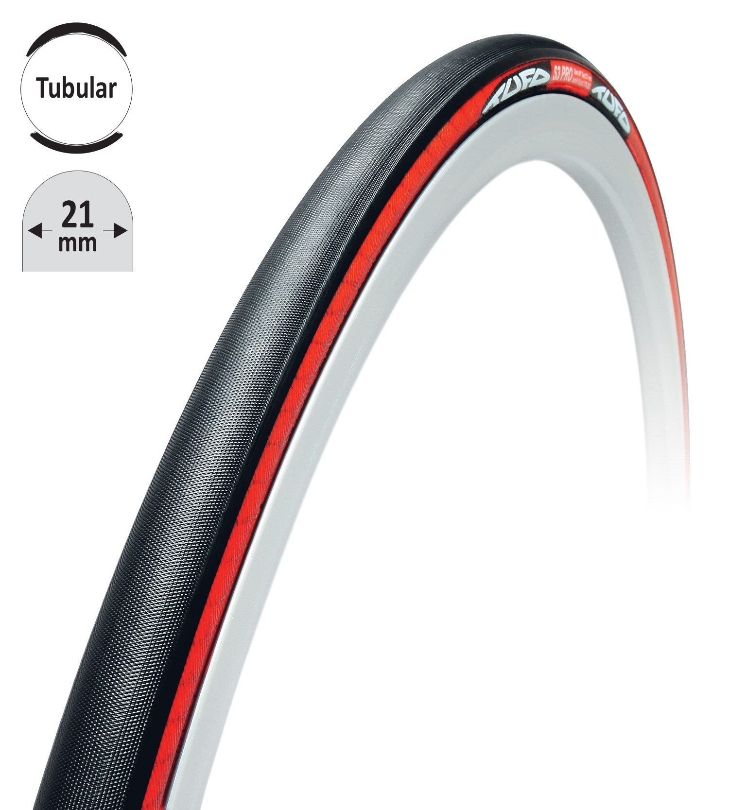 """galuska TUFO S3PRO kulatá černo-červená 28""""/21mm"""