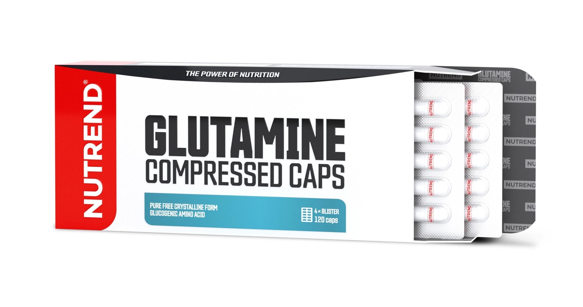 GLUTAMINE COMPRESSED CAPS, obsahuje 120 kapslí