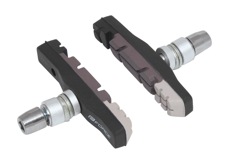 gumičky brzd FORCE jednorázové, črn-šedé balené 70mm