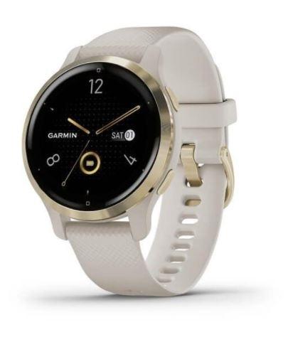 hodinky sportovní GARMIN Venu2S, béžové