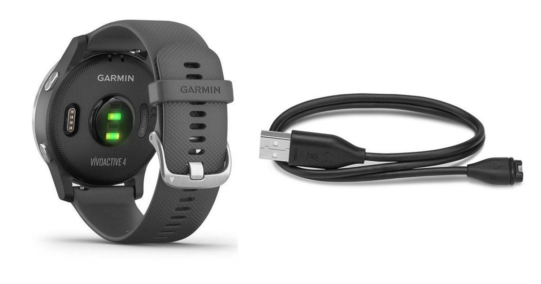 hodinky sportovní GARMIN vívoActive 4, šedé