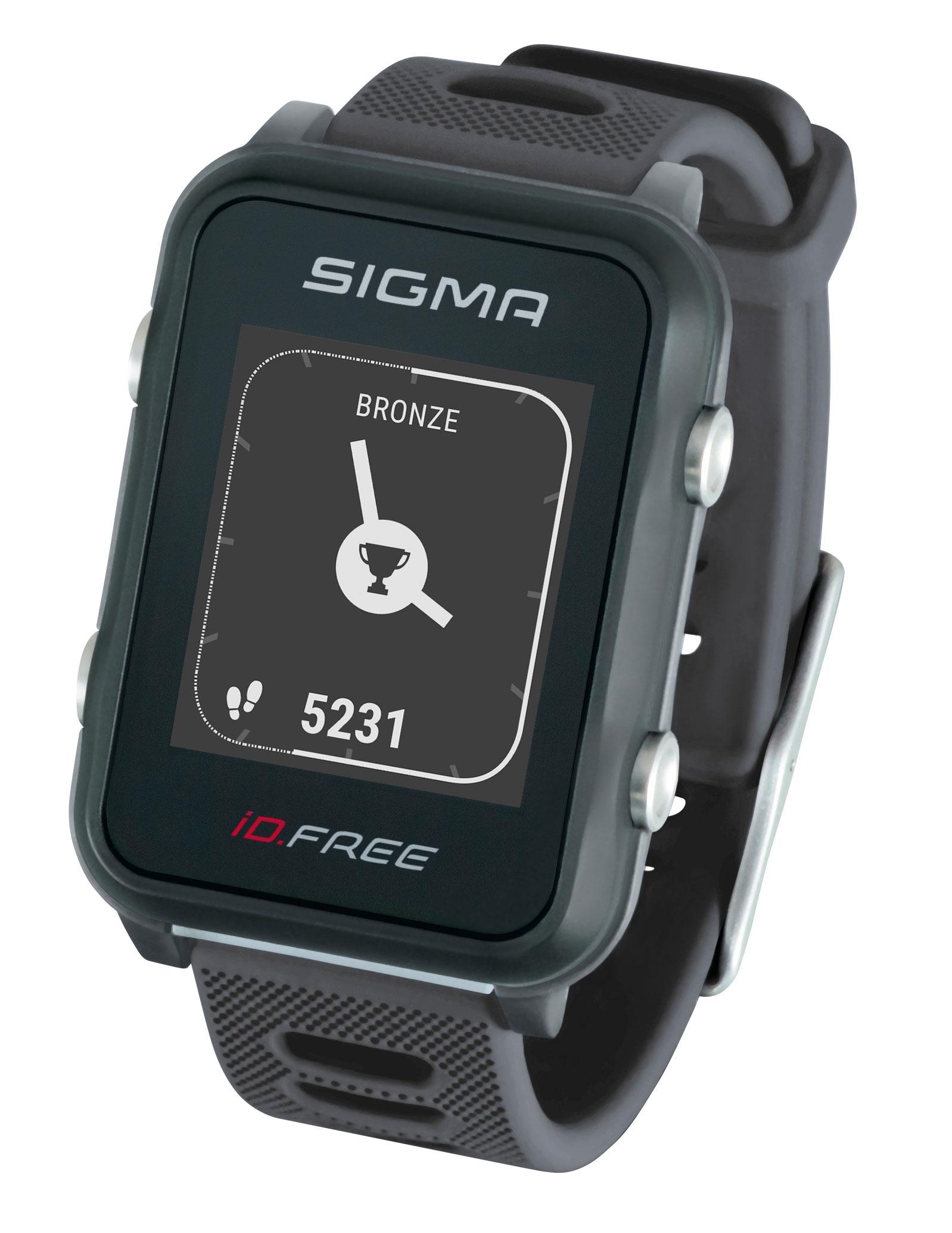 počítač SIGMA pulsmetr iD.FREE šedý