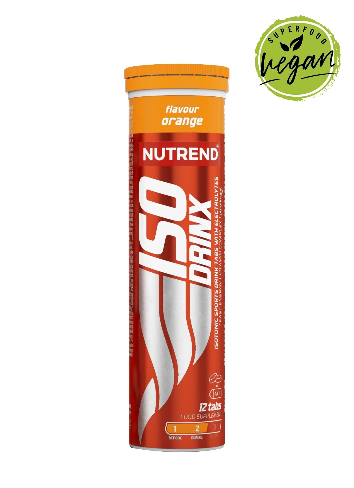 ISODRINX TABS, pomeranč, tuba obsahuje 12 tablet