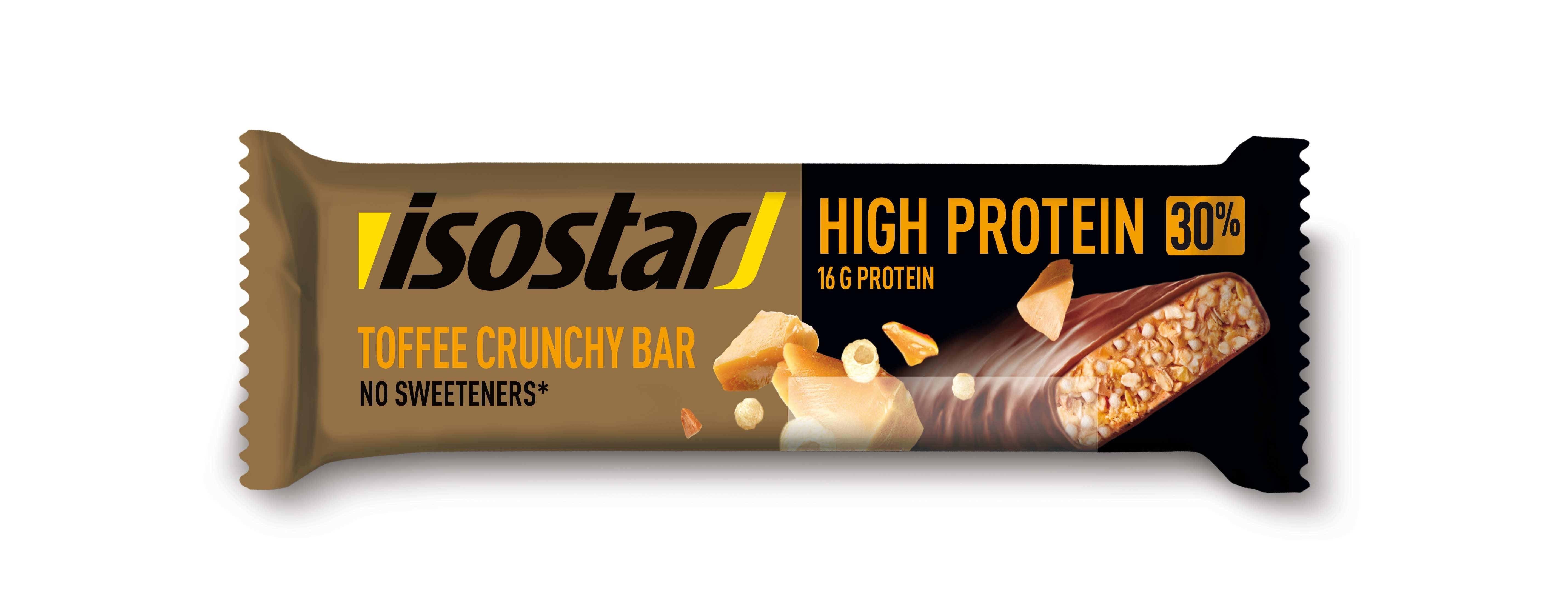 ISOSTAR proteinová tyčinka 30% 55g křupavý karamel