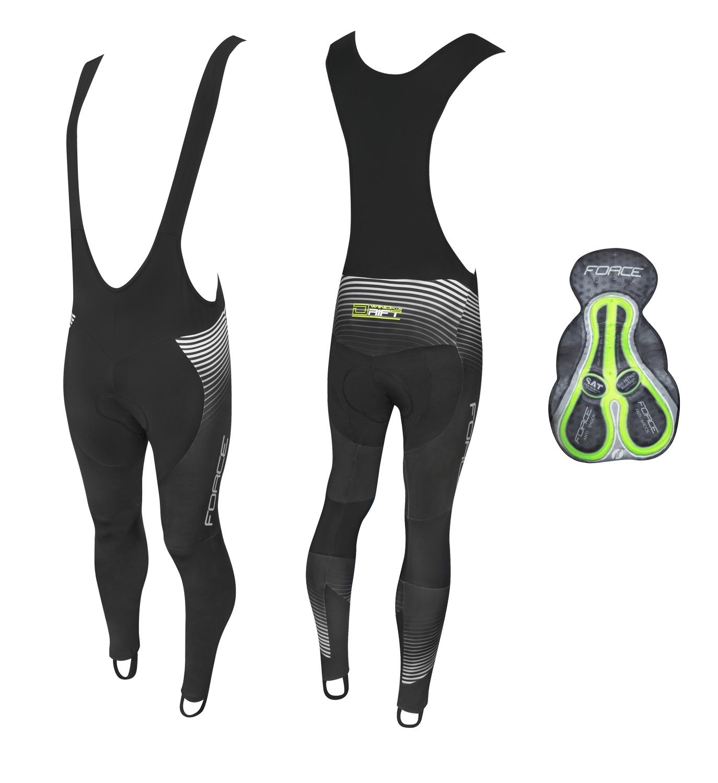 kalhoty F DRIFT WIND se šráky a vložkou,černé 4XL