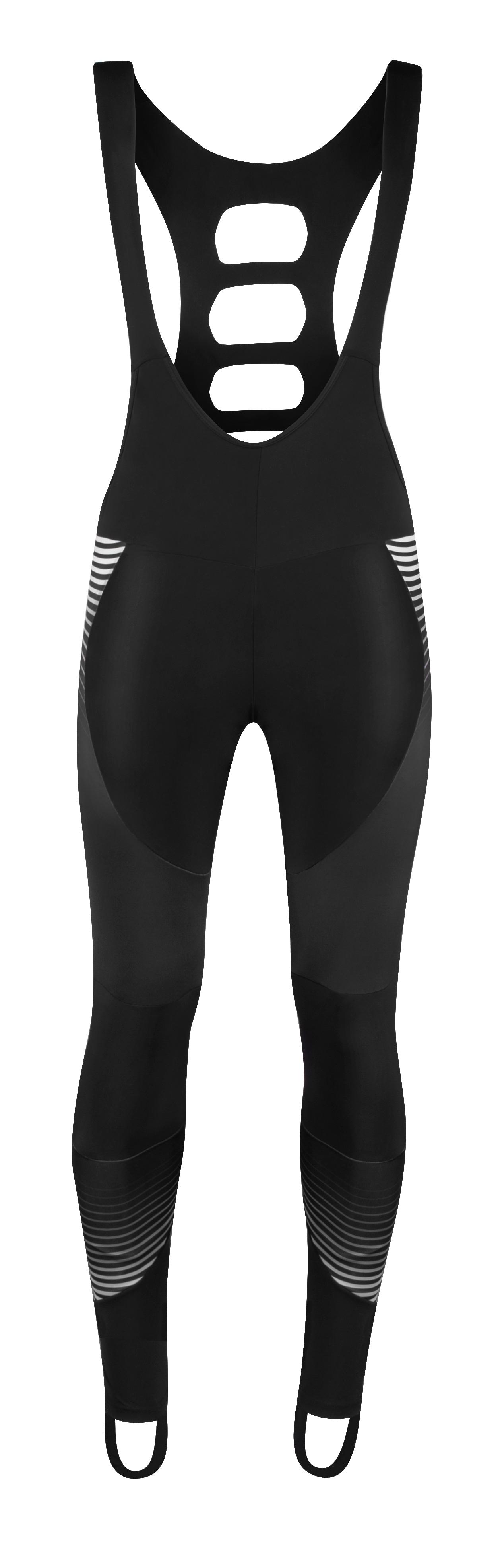 kalhoty FORCE DRIFT WIND se šráky bez vložky,černé XS