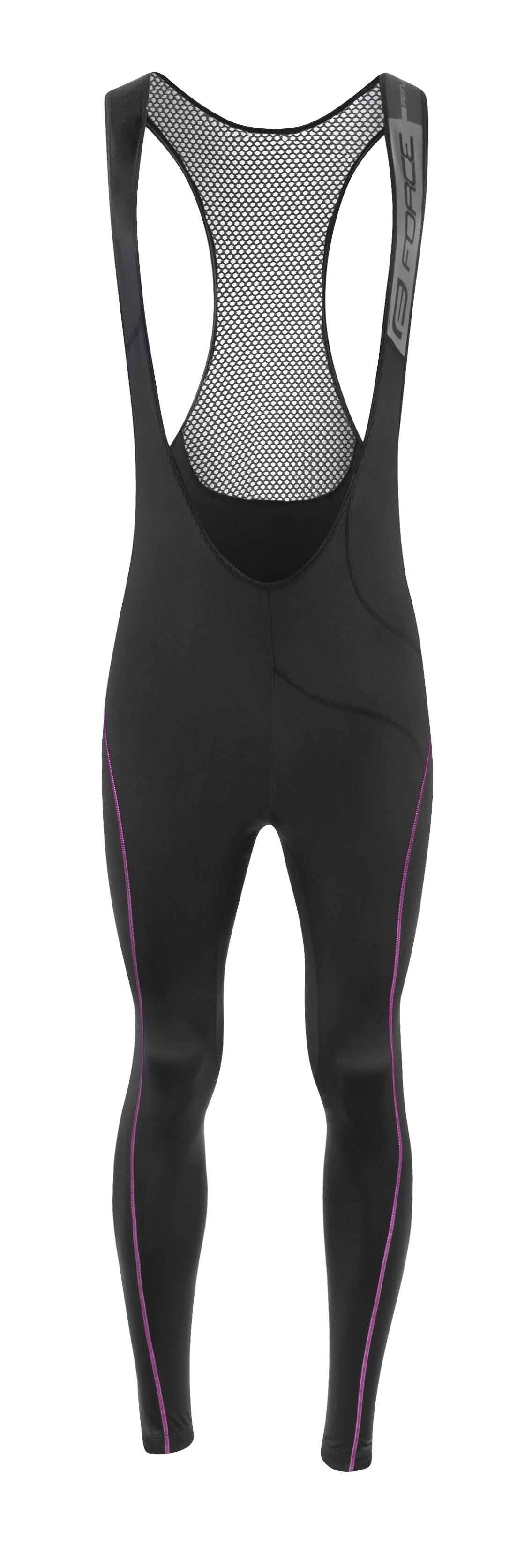 kalhoty F REFLEX LINE LADY bez vl.,črn-růžové L