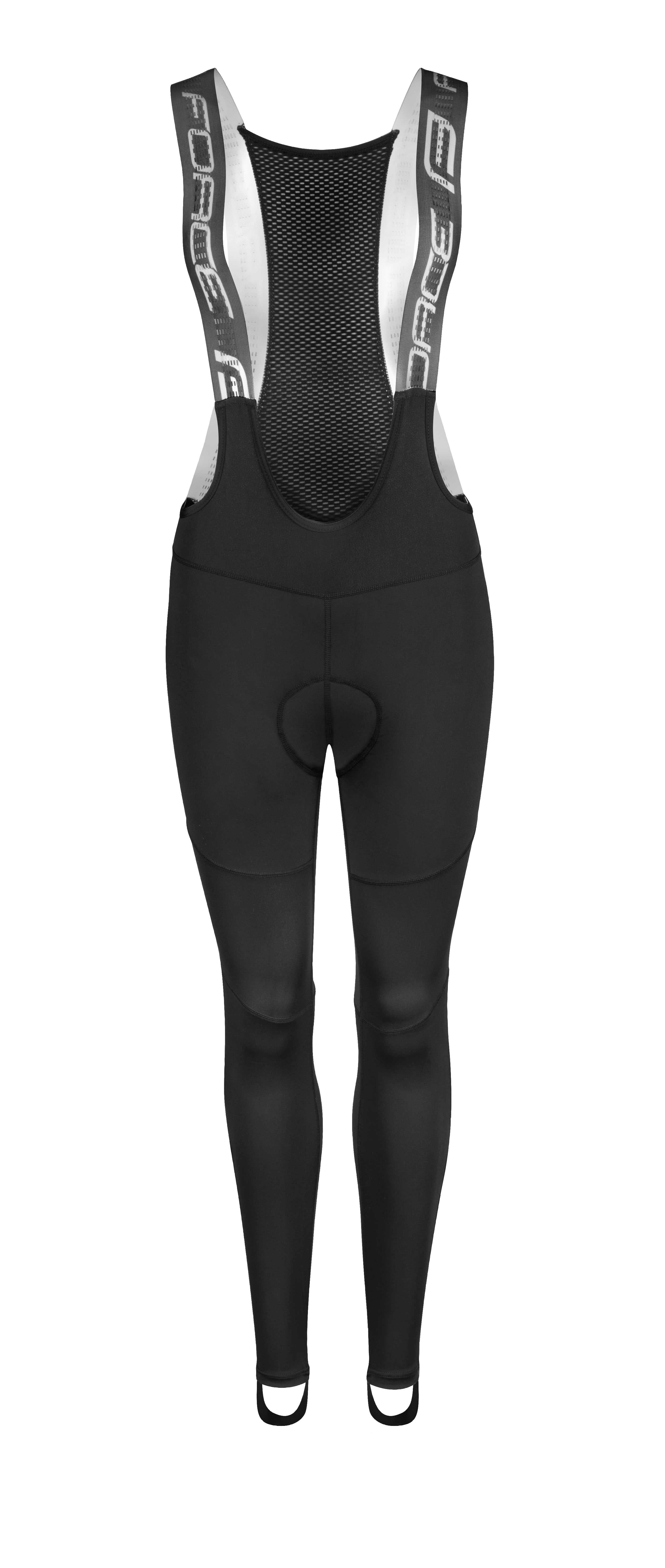 kalhoty F SPRING LADY se šráky a vl, černé XXL
