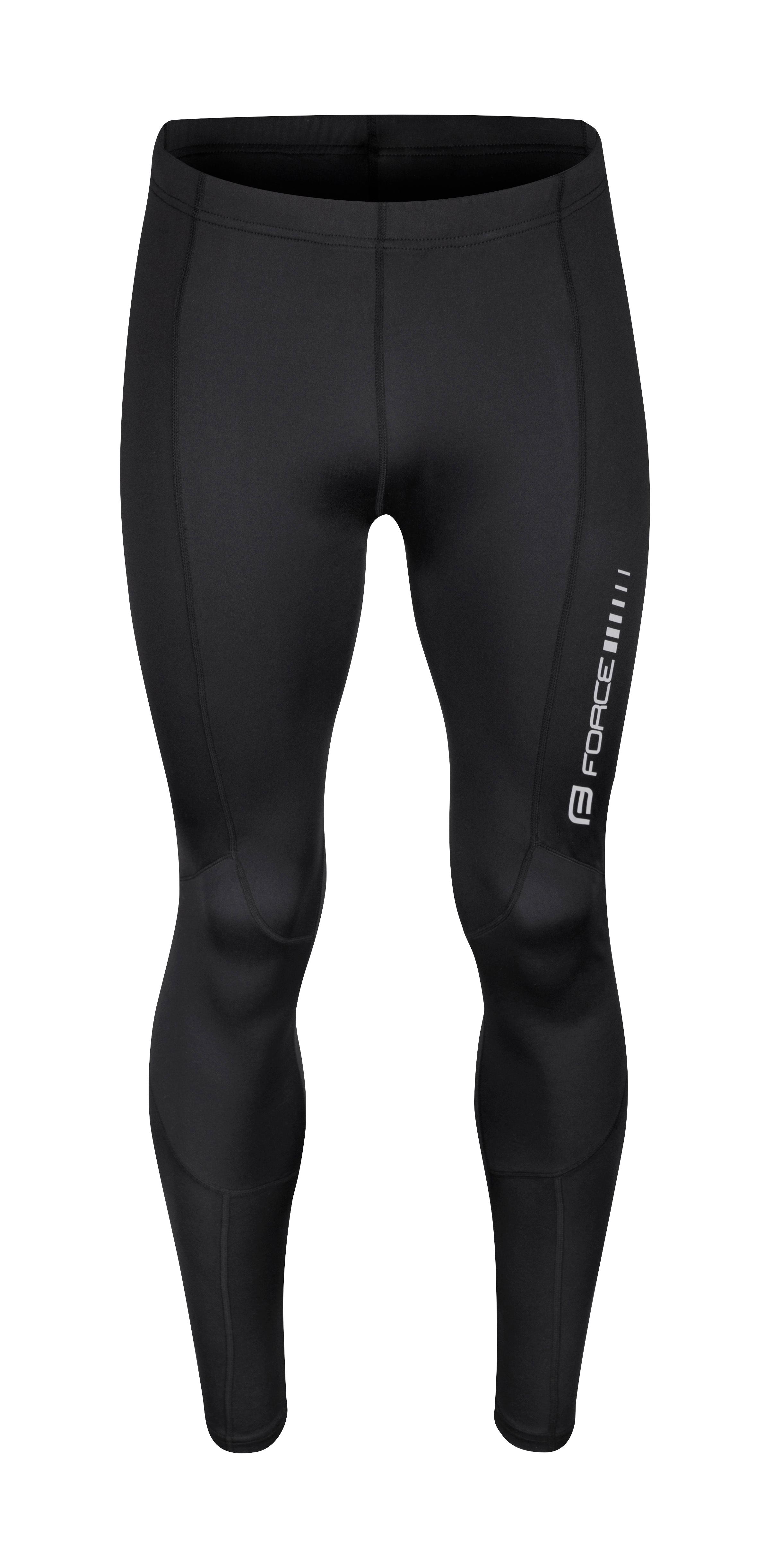kalhoty FORCE Z68 do pasu bez vložky, černé M