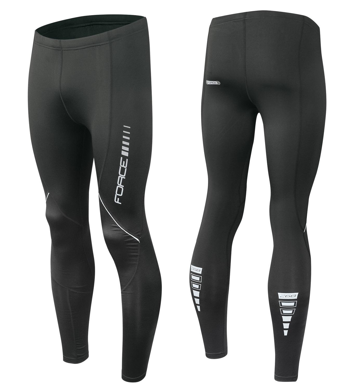 kalhoty FORCE Z68 do pasu bez vložky, černé XL