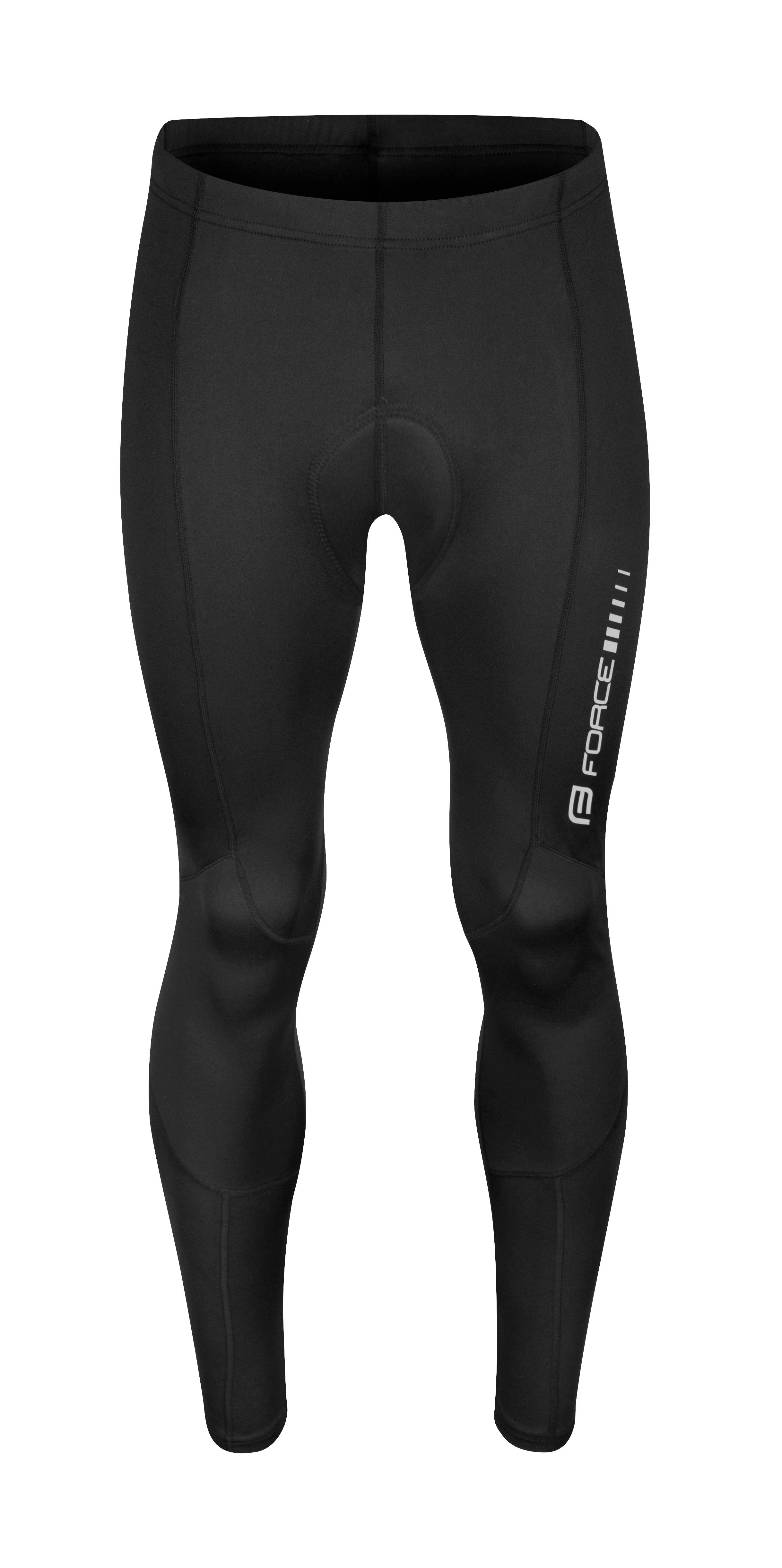 kalhoty FORCE Z68 do pasu s vložkou, černé XL