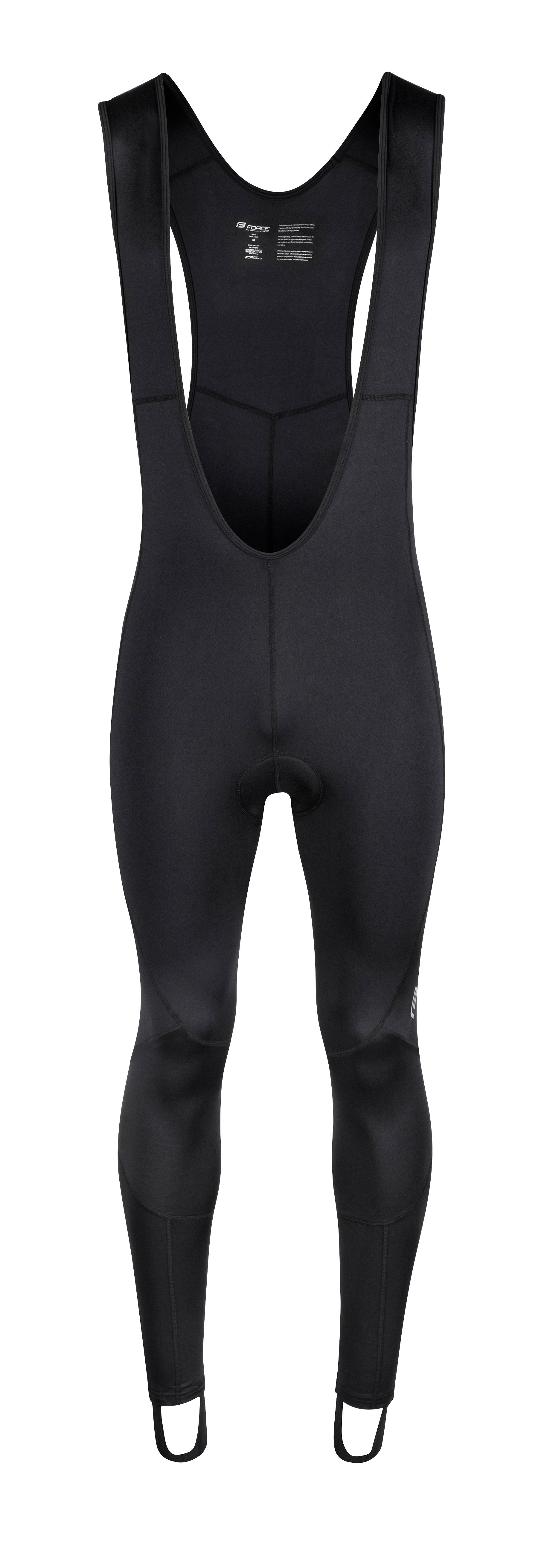 kalhoty FORCE Z68 se šráky a vložkou, černé XS