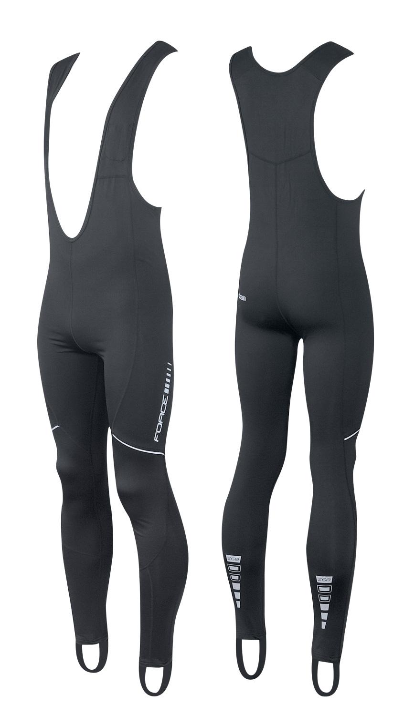 kalhoty FORCE Z68 se šráky bez vložky, černé XXL