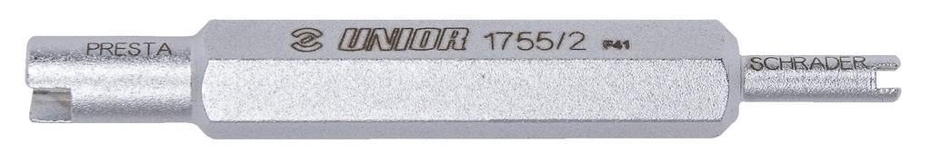 klíč UNIOR na vložky AV/FV ventilků, ocel, šedý