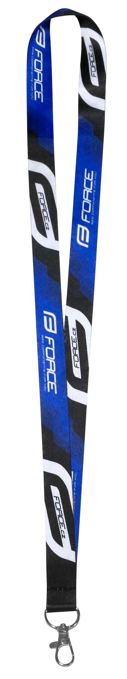 klíčenka FORCE na krk, černo-modrá