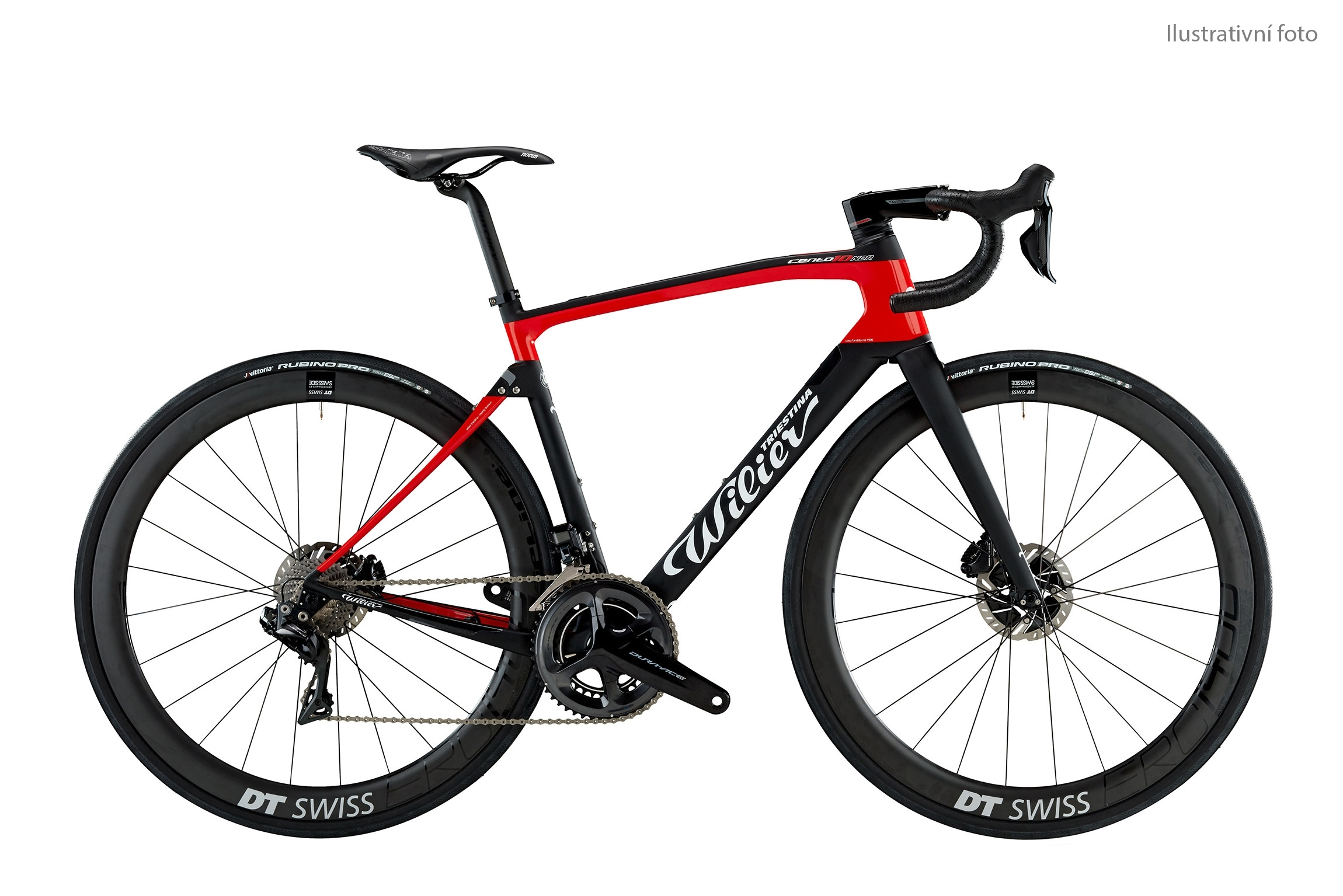 kolo CENTO10NDR Disc+D.A. Di2+DT1400 black red M