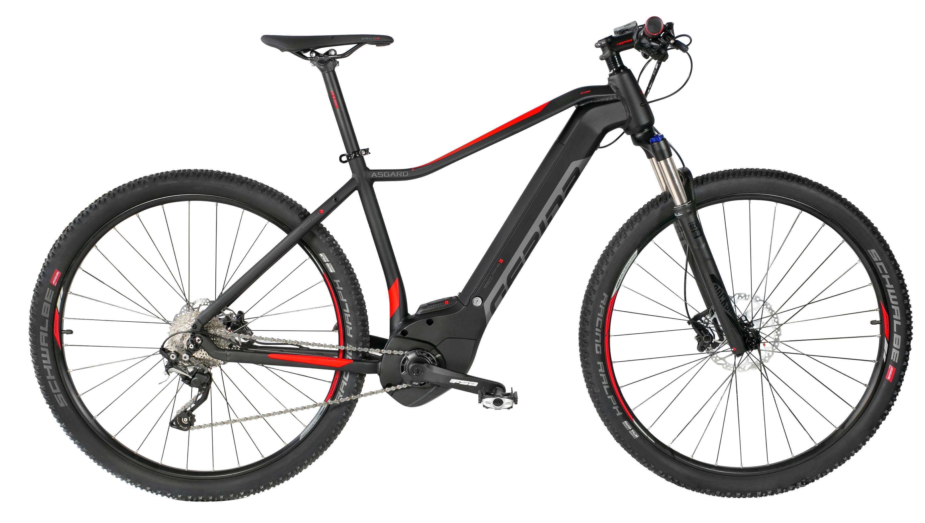 """kolo e-bike ASGARD 29"""" SLX 10, černo-červená 19"""""""
