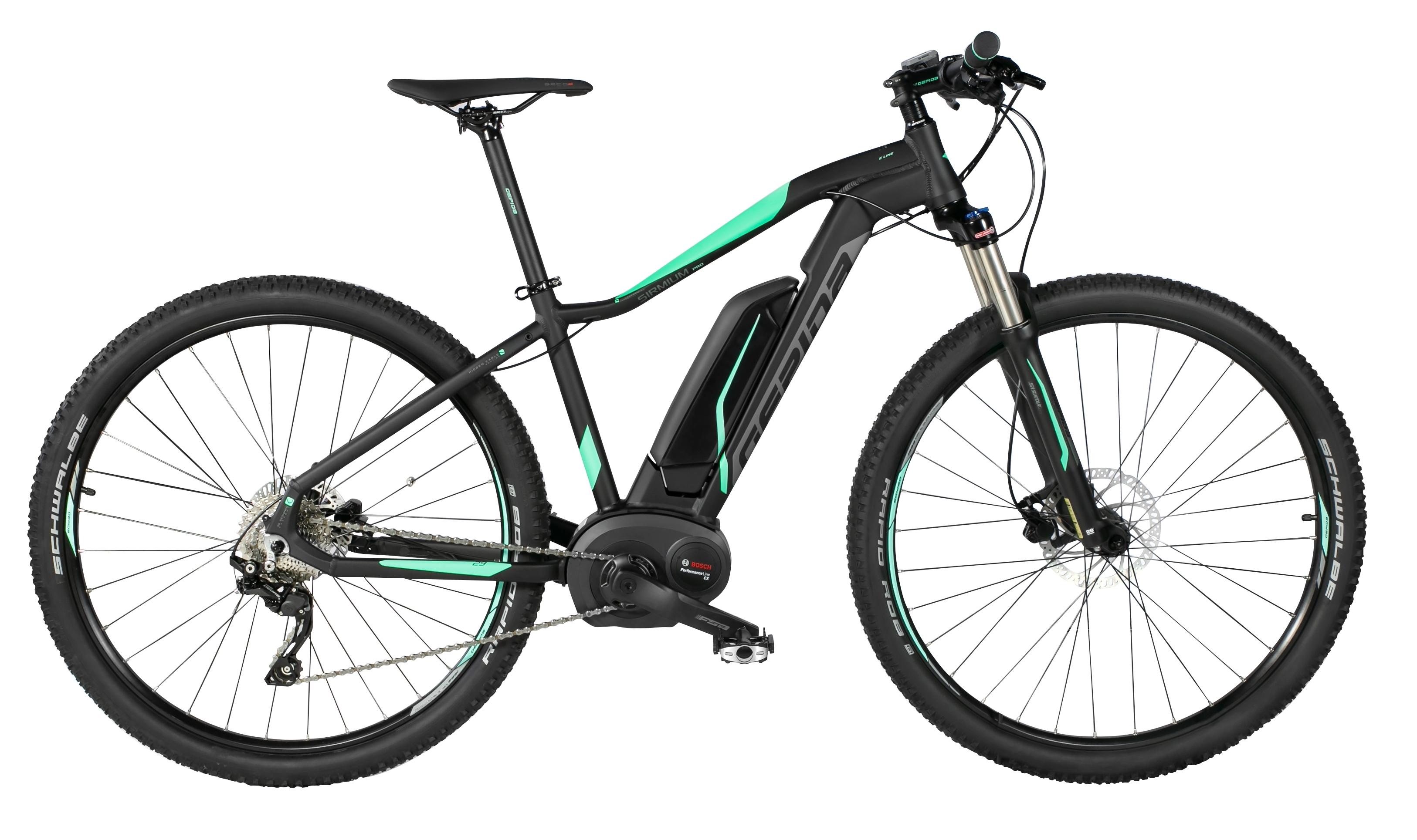 "kolo e-bike SIRMIUM PRO 29"" DEORE 10, črn-zel 15"""