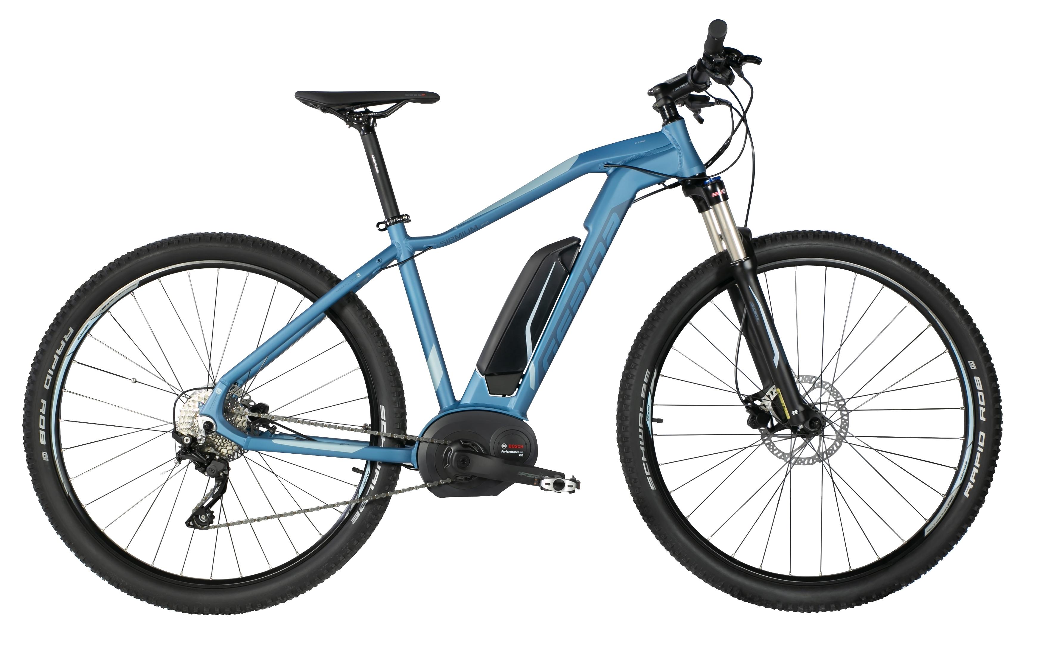 """kolo e-bike SIRMIUM PRO 29"""" DEORE 10, modrá 21"""""""