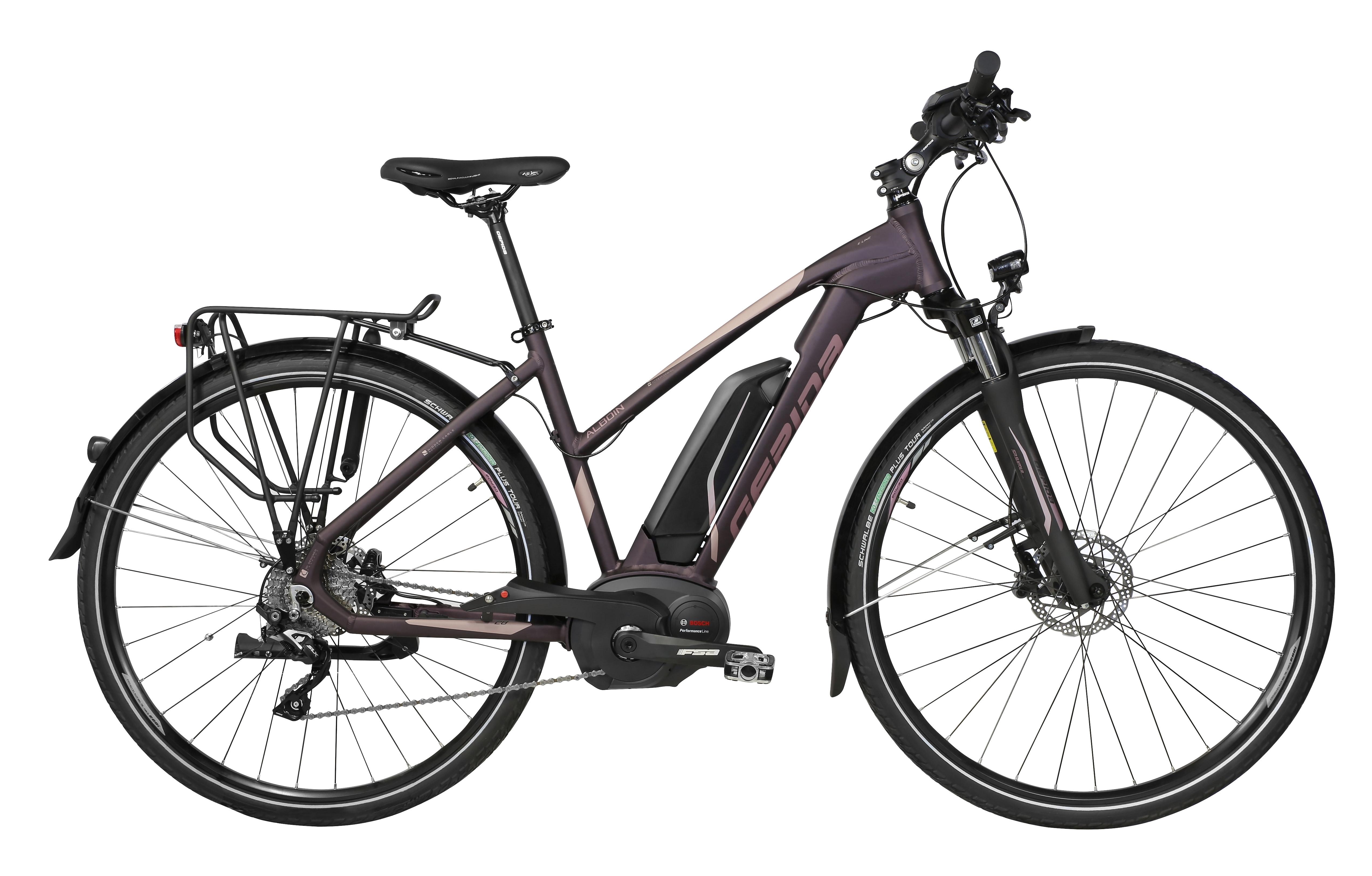 """kolo e-bikeALBOIN SLX10 28"""" šedo-fialová 48"""