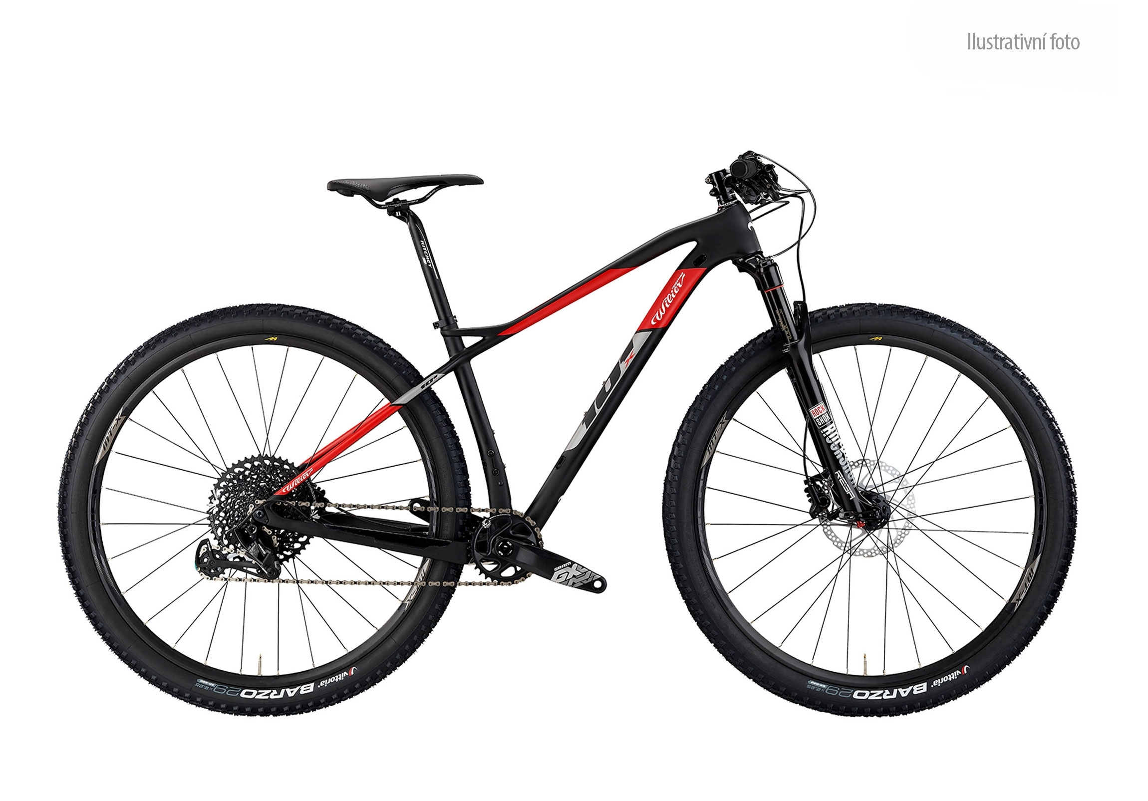"kolo MTB 29"" 101X XT 1x12+SID+MT501 black red    M"