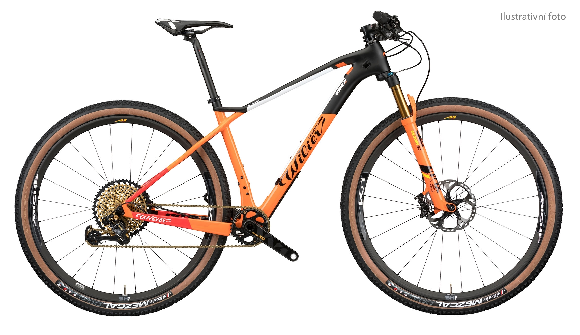 "kolo MTB 29"" 110X SRAM GX+FOX+MICHE 966 orange   L"