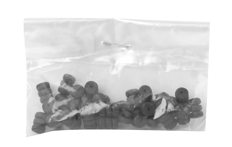 korálky gumové na lanka - válec