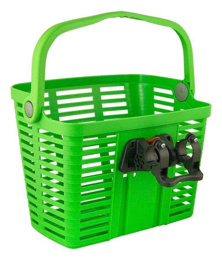 koš plastový na řídítka KLICK FIX, zelený