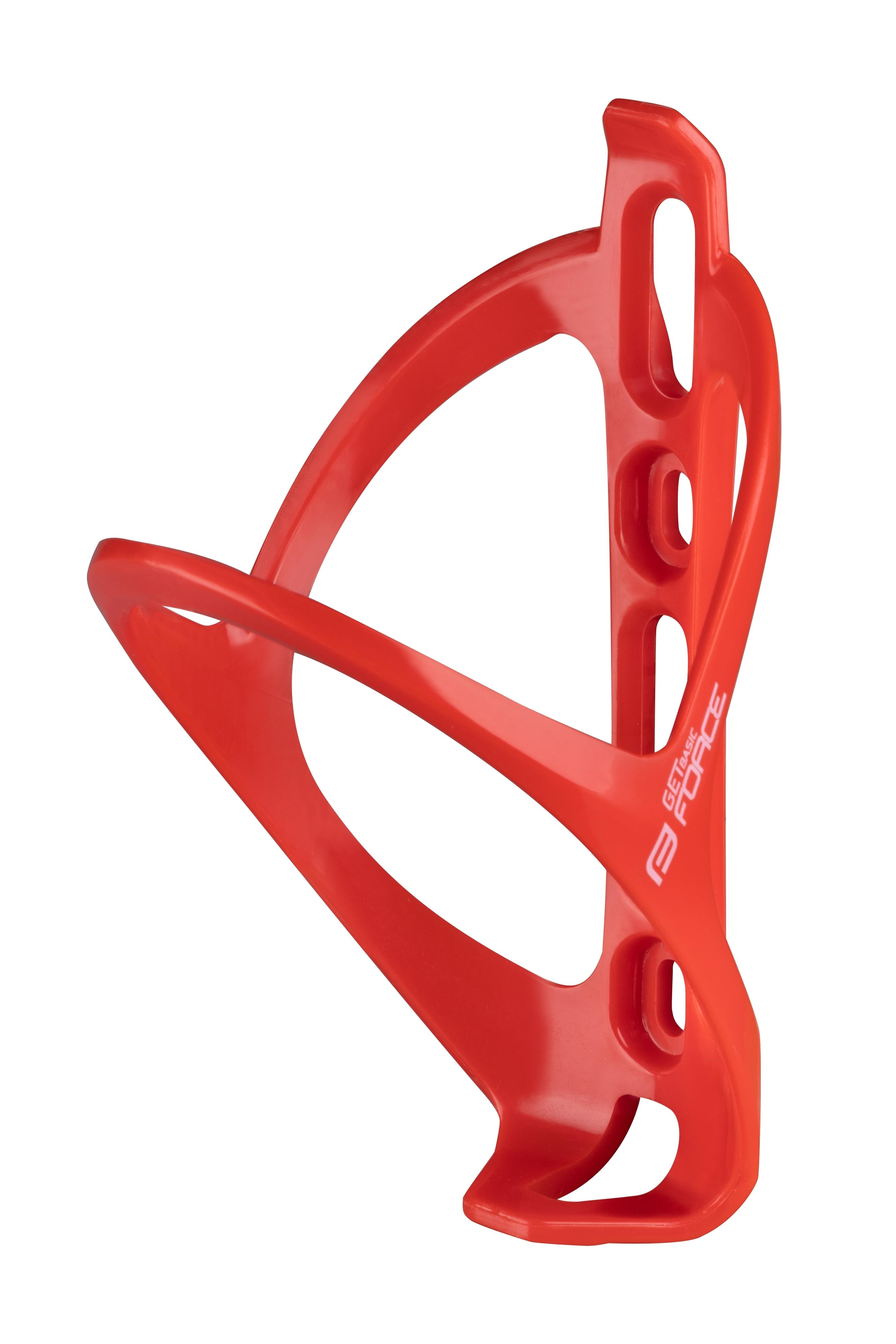 košík láhve FORCE GET BASIC, plastový, červený