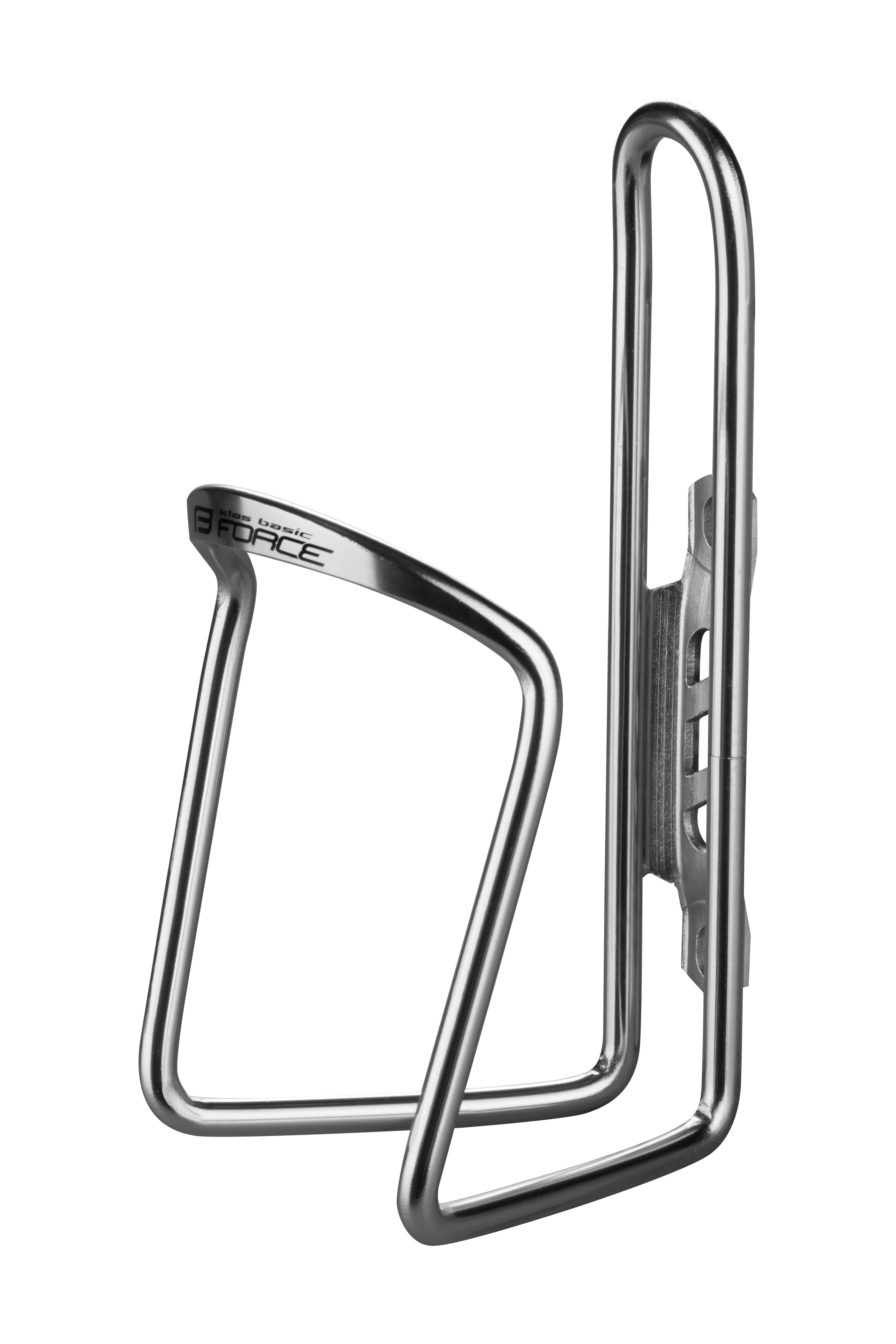 košík láhve FORCE KLAS AI BASIC, stříbrný, lesklý