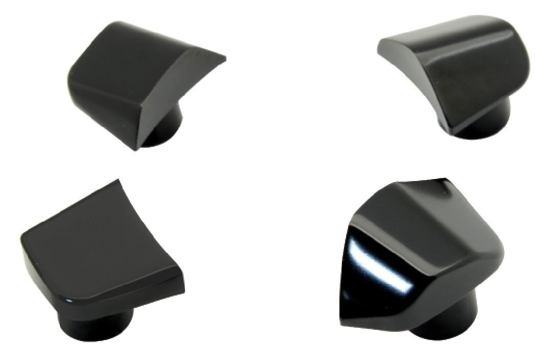 krytky závitové RIDEA 80 pro montáž klik, Al, črn.