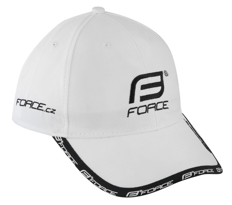 kšiltovka FORCE, bílo-černá