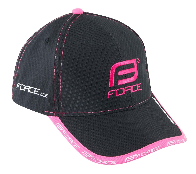kšiltovka FORCE, černo-růžová