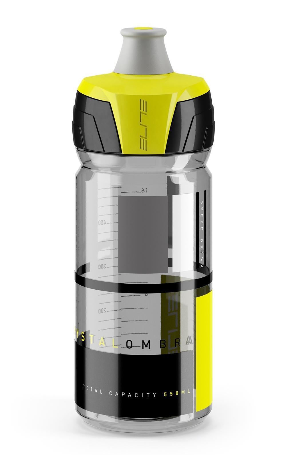 láhev ELITE CRYSTAL OMBRA 0,55 l, čirá černo-žlutá
