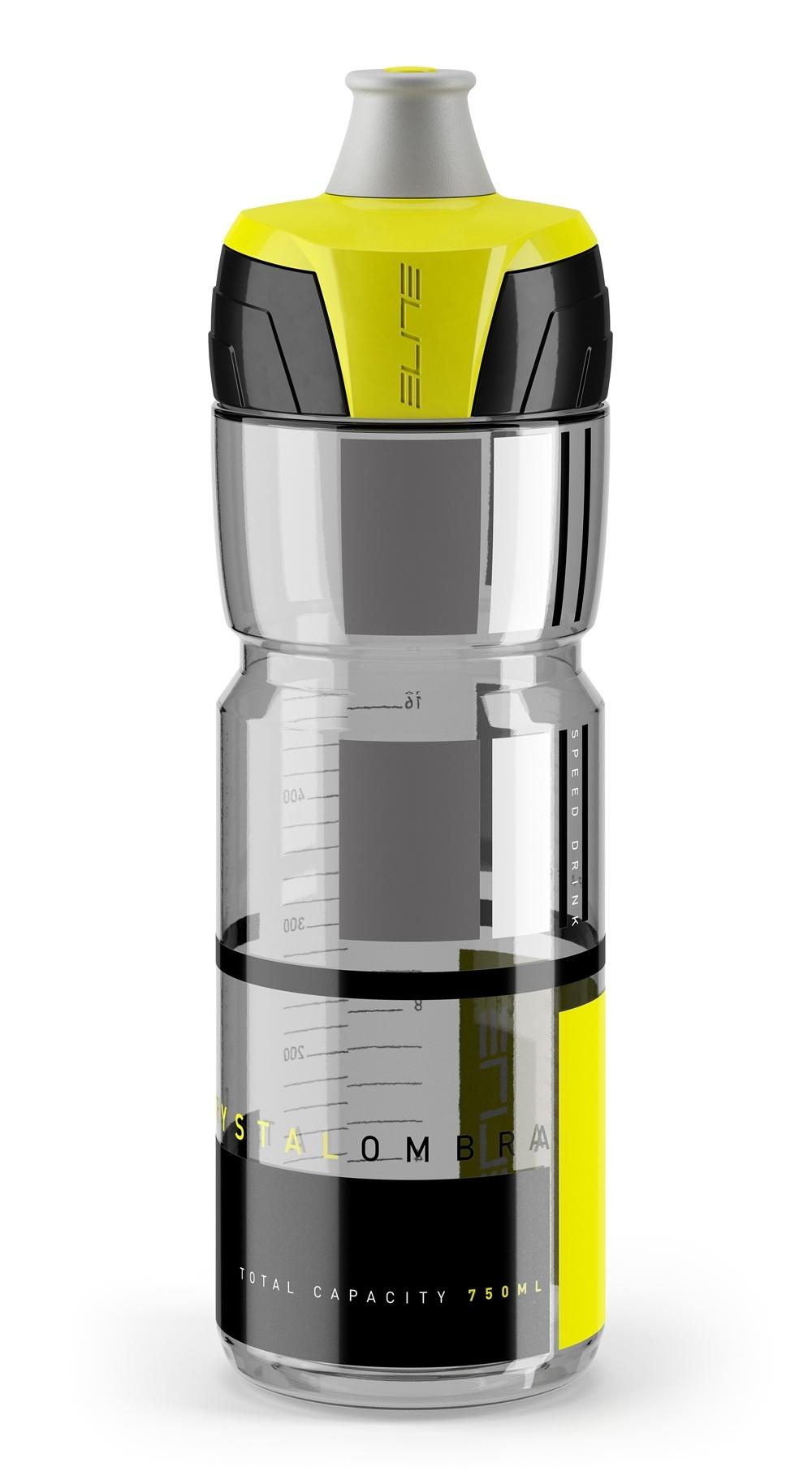 láhev ELITE CRYSTAL OMBRA 0,75 l, čirá černo-žlutá