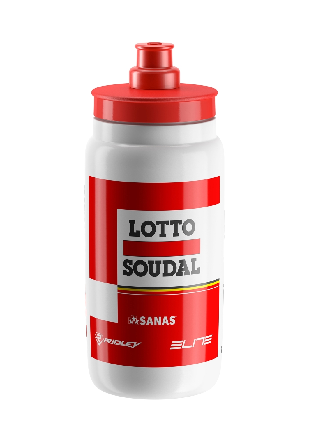 láhev ELITE FLY TEAM LOTTO SOUDAL 0,55 l,bílo-črv
