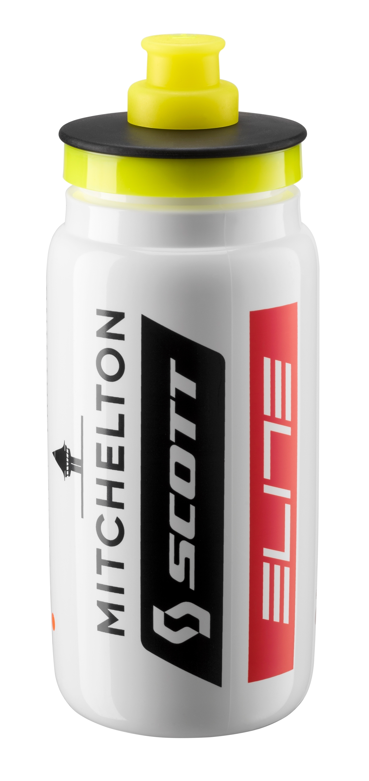 láhev ELITE FLY TEAM MITCHELTON-SCOTT 0,55 l,bílá