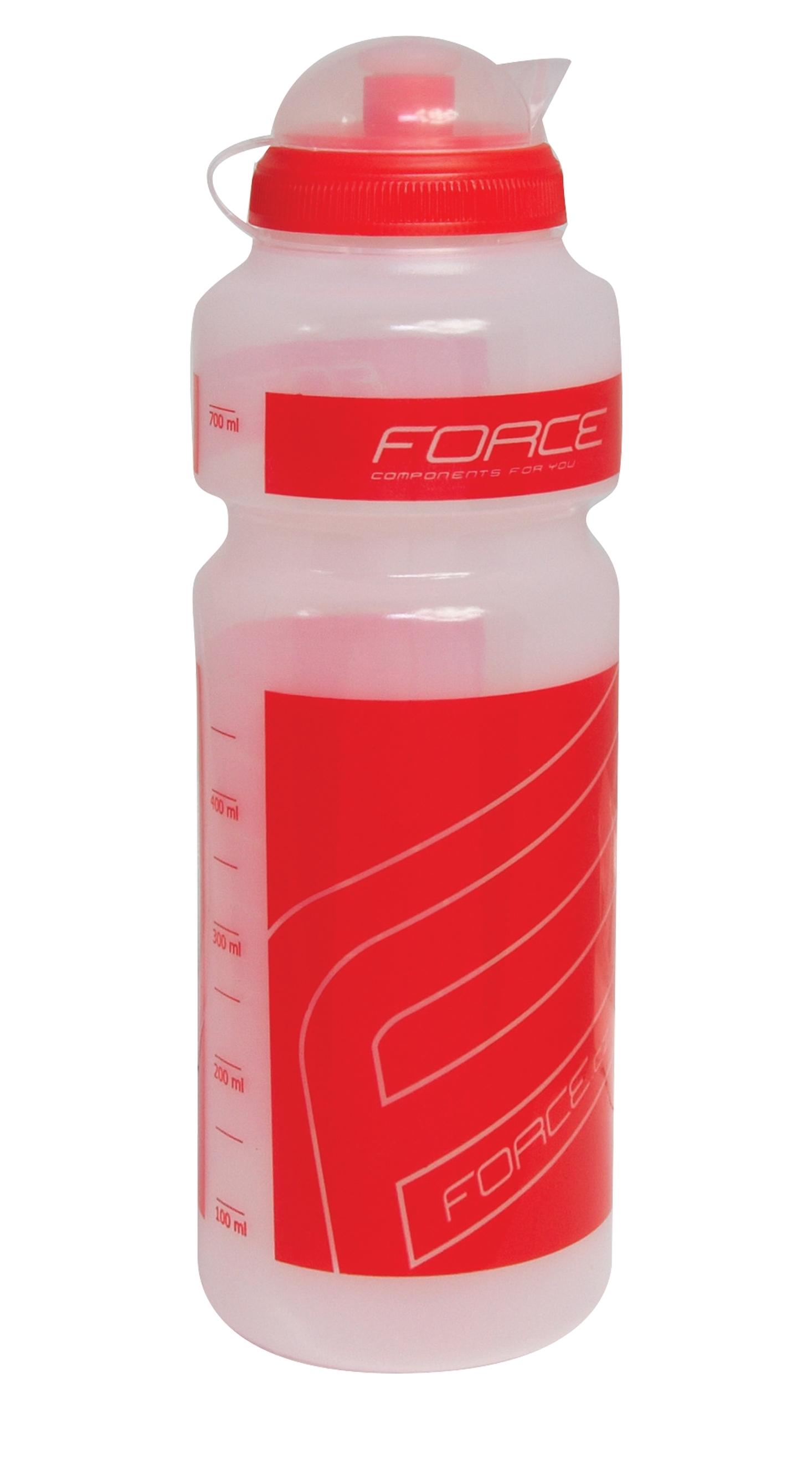 """láhev FORCE """"F"""" 0,75 l, čirá/červený potisk"""