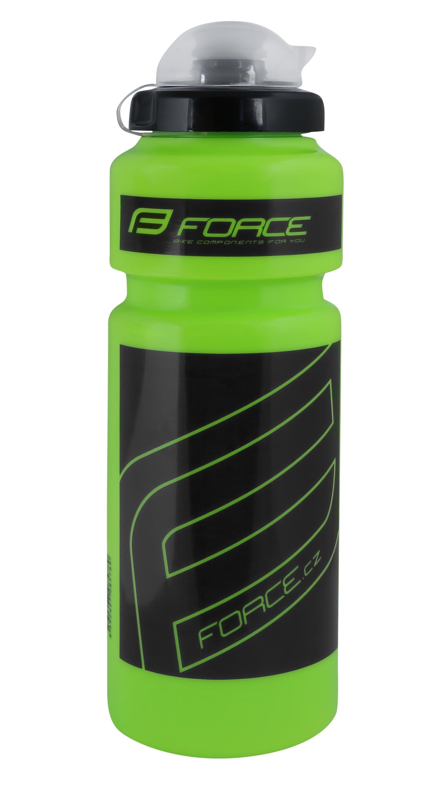 """láhev FORCE """"F"""" 0,75 l, zelená/černý potisk"""