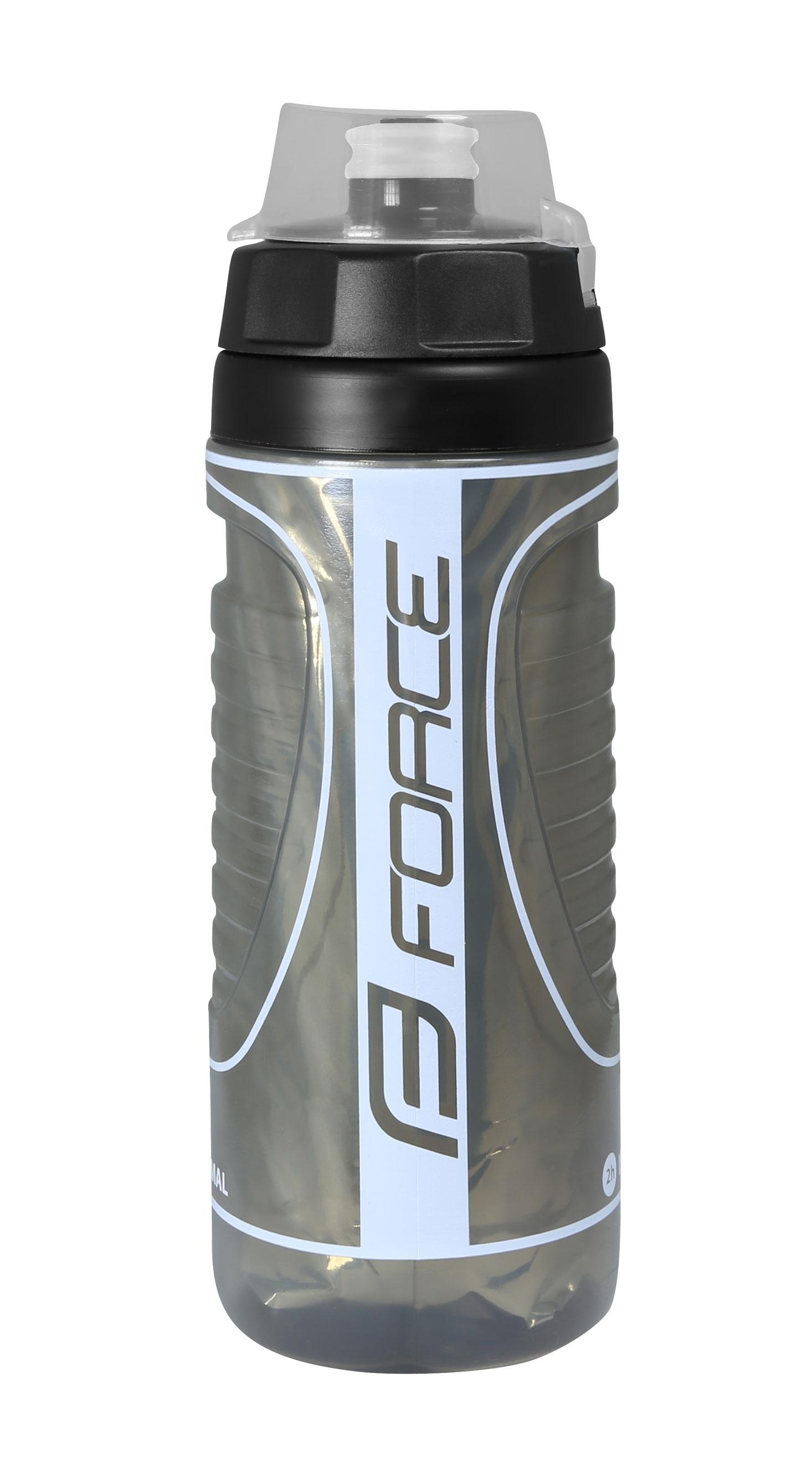 láhev FORCE HEAT 0,5 l termoláhev, černo-šedá